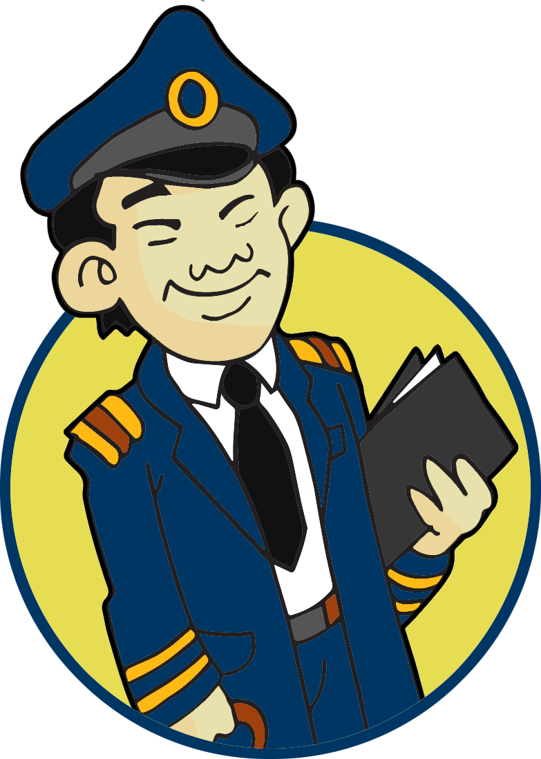 Image of a pilot in uniform